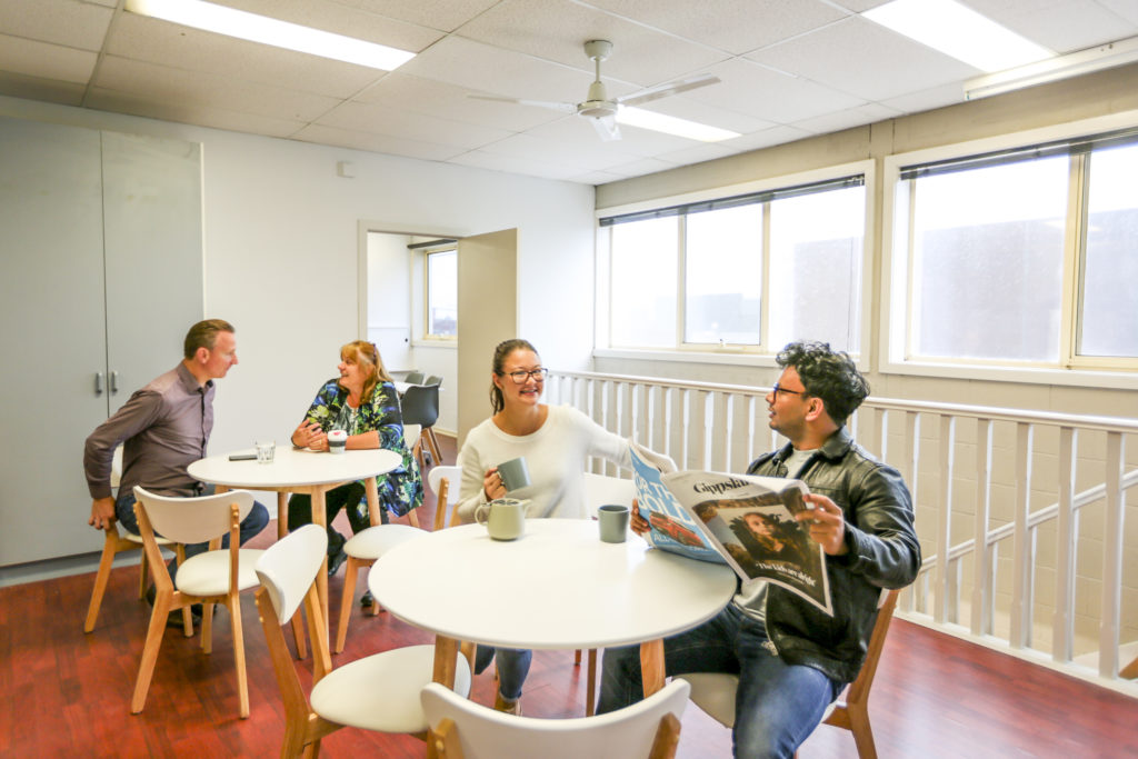 Herd Coworking Kitchen Area with meeting rooms in Gippsland