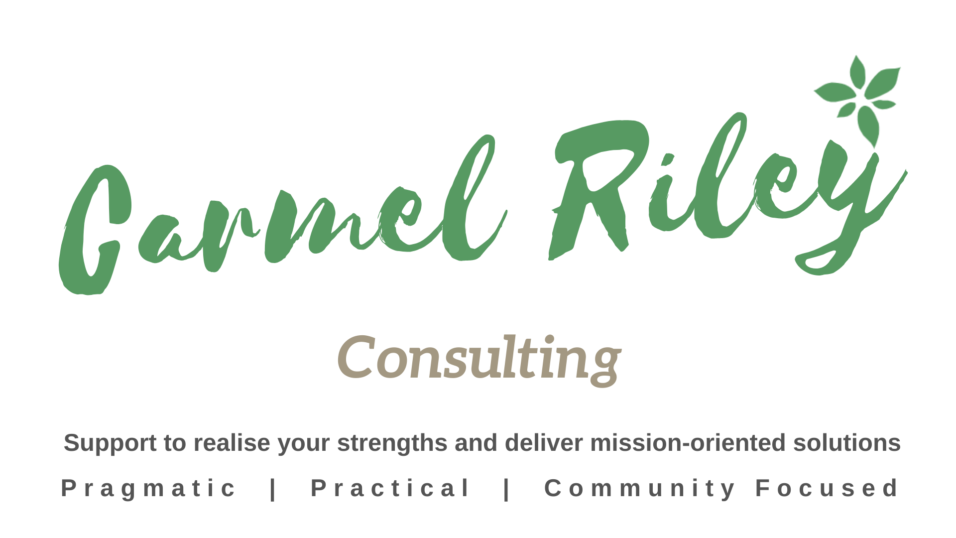 Carmel Riley Consulting Logo using coworking space